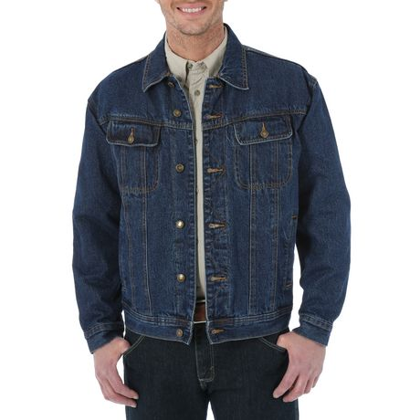 852e8498 Wrangler Men's Flannel Lined Denim Jacket   Walmart Canada