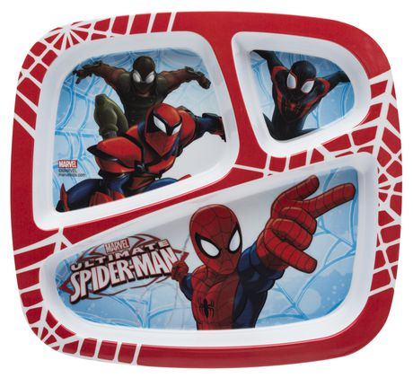 Zak Designs Ultimate Spider Man 3 Section Plate Walmart