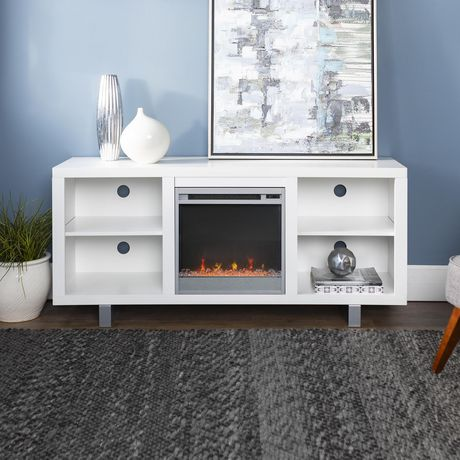 "Manor Park Modern Fireplace TV Stand for TV's up to 64"" - Multiple Finishes - image 1 of 7"