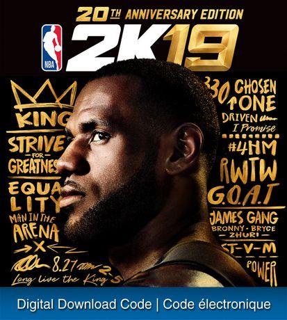 PS4 NBA 2K19 20th Anniversary Edition [Download] - image 1 de 1