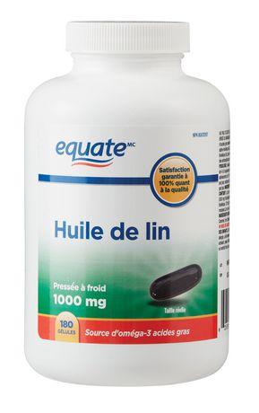 Huile de lin Equate pressé à froid  1 000 mg - image 2 de 2