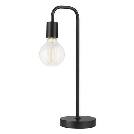 "Holden 18"" Table Lamp, Black, Satin Finish - image 1 of 8"