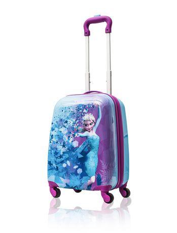20 Inch Disney Frozen II Anna Elsa Hardside Tween Spinner Luggage for Kids
