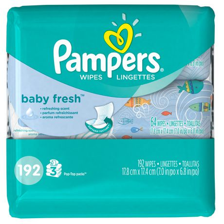 Pampers Baby Fresh Wipes 3x Travel Pack Walmart Canada