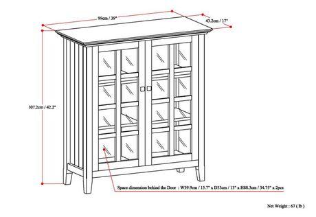 WyndenHall Normandy Medium Storage Cabinet - image 7 of 8