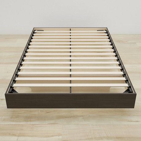 Lit plateforme double Tribeca de Nexera avec tête de lit en ébène - image 5 de 5