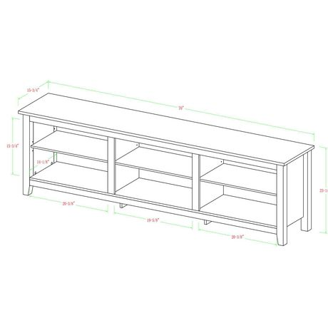 """Manor Park Minimal Farmhouse TV Stand for TV's up to 78""""- Multiple Finishes - image 6 of 7"""