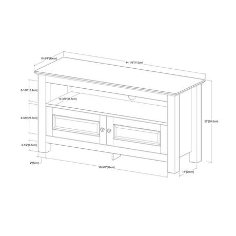"""Manor Park Traditional Wood TV Stand with Storage for TV's up to 48"""" - Multiple Finishes - image 6 of 7"""