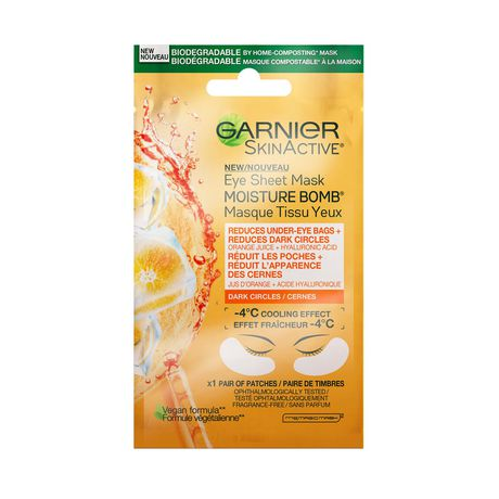 Garnier SkinActive Moisture Bomb Brightening Eye Sheet Mask - image 1 of 7