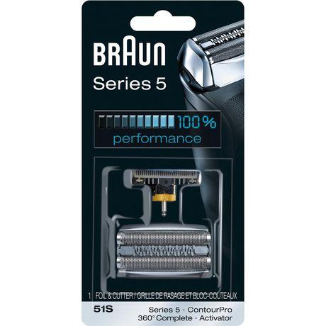Grille et bloc-couteaux de remplacement Combi 51S pour rasoir Braun série 5 - image 1 de 1
