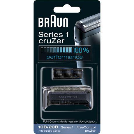 Ensemble de rechange grille de rasage et bloc-couteaux de la série 1 cruZer 10B/20B de Braun - image 1 de 1