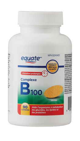 Equate B 100 Complex Time Release Tablets Walmart Canada