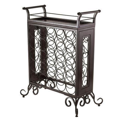 Winsome Silvano Wine Rack 5x5 With Removable Tray Dark