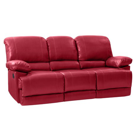 Perfect CorLiving Lea Reclining Red Bonded Leather Sofa