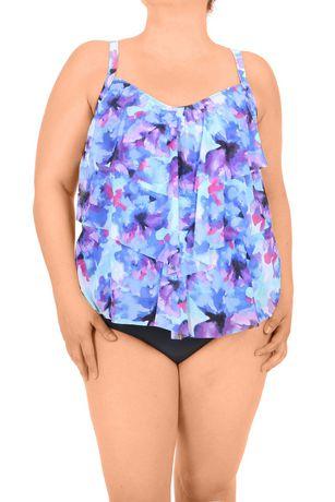 Alia Women's Plus Size Tankini Top - image 1 of 1
