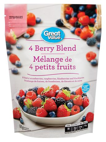 Great Value 4-Berry Frozen Fruit Blend - image 1 of 3