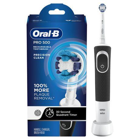 Brosse à dents électrique rechargeable Oral-B Pro 500 alimentée par Braun 8ebf2bceff90