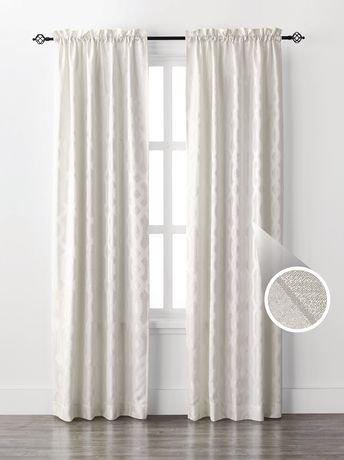 rideau simple mainstays pour fen tre motif de g o en jacquard walmart canada. Black Bedroom Furniture Sets. Home Design Ideas