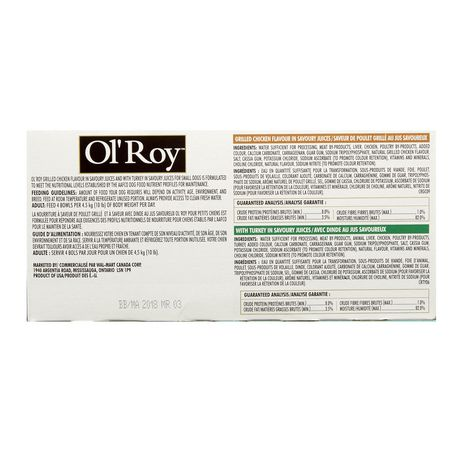 Ol' Roy Ol'Roy Grilled Chicken Flavour, with Turkey Dog Food - image 2 of 2