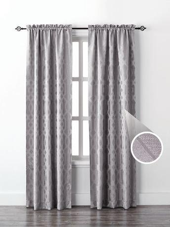 Mainstays Geo Jacquard Single Window Curtain Walmart Canada