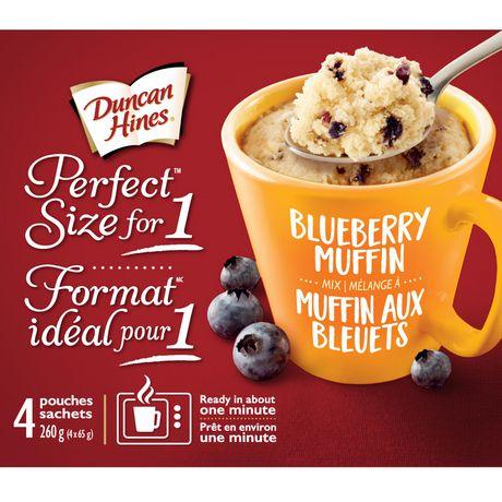 Mélange de muffin aux bleuets Format idéal pour 1 de Duncan Hines - image 1 de 4