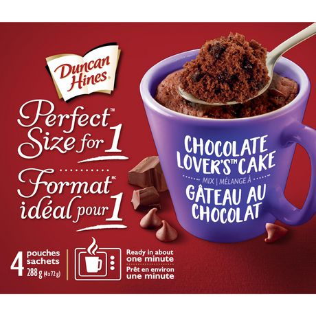Duncan Hines Perfect Size for 1 Choclate Lovers Cake Mix - image 1 of 6
