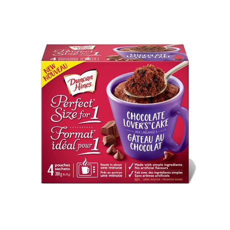Duncan Hines Perfect Size for 1 Choclate Lovers Cake Mix - image 2 of 6
