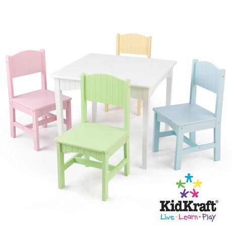 nantucket table 4 pastel chairs walmart canada. Black Bedroom Furniture Sets. Home Design Ideas