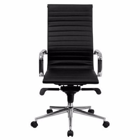 Chaise Haut Bureau Dossier De À Furniture Exécutif Noire Nicer hrdCtsQx