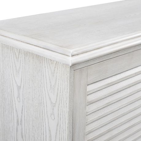 """Manor Park angelo:HOME 60"""" Louvered Door TV Console - White Wash - image 5 of 6"""