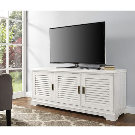 """Manor Park angelo:HOME 60"""" Louvered Door TV Console - White Wash - image 3 of 6"""