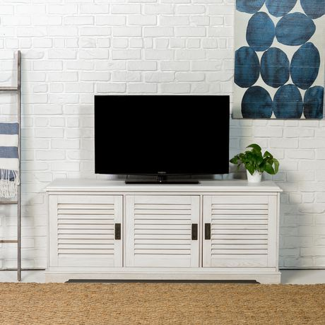 """Manor Park angelo:HOME 60"""" Louvered Door TV Console - White Wash - image 2 of 6"""