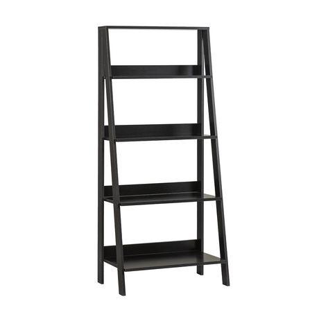 Manor Park 55 4 Shelf Modern Transitional Wood Ladder Bookcase