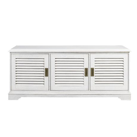 """Manor Park angelo:HOME 60"""" Louvered Door TV Console - White Wash - image 4 of 6"""