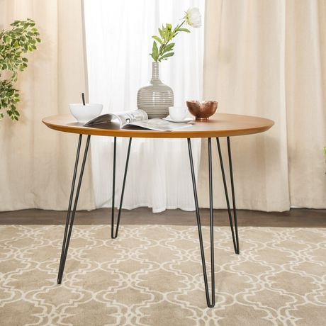 Manor Park 4 Person Mid Century Modern Round Dining Table - image 3 of 7