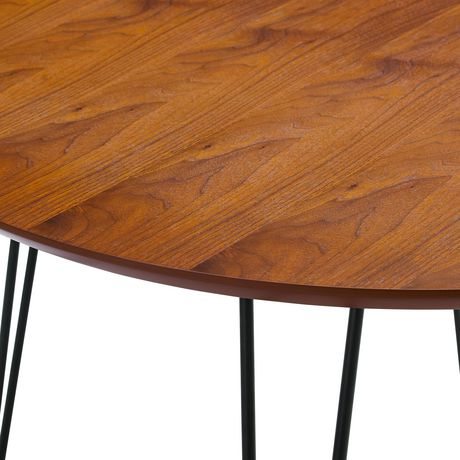 Manor Park 4 Person Mid Century Modern Round Dining Table - image 5 of 7