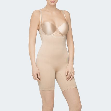 6cae2a7c212 Body Wrap Retrolites Body Wrap Retro Lites Underbust Bodysuit Seamless  Shapewear - image 1 of 2 ...