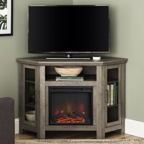Manor Park 48 Quot Wood Corner Fireplace Media Tv Stand