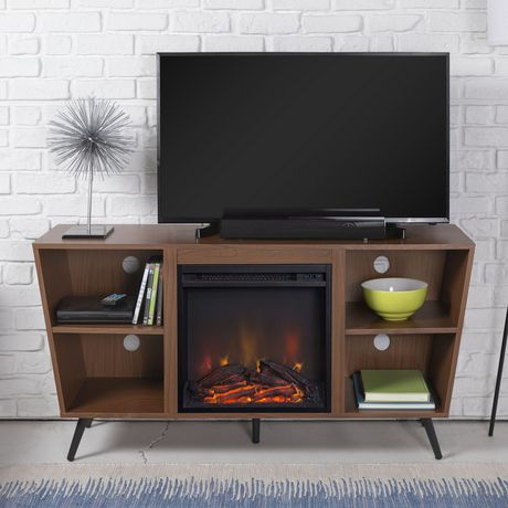 """Manor Park Mid-Century Modern Hairpin Fireplace TV Stand for TV's up to 56"""" - Multiple Finishes - image 2 of 7"""