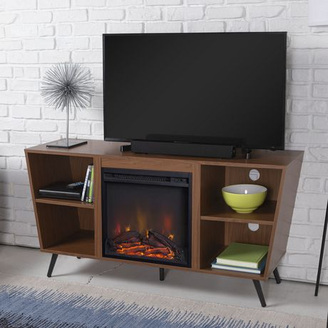 """Manor Park Mid-Century Modern Hairpin Fireplace TV Stand for TV's up to 56"""" - Multiple Finishes - image 3 of 7"""
