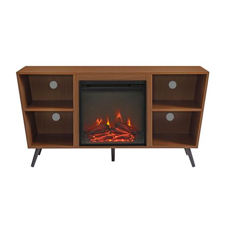 """Manor Park Mid-Century Modern Hairpin Fireplace TV Stand for TV's up to 56"""" - Multiple Finishes - image 1 of 7"""