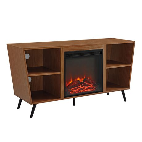 """Manor Park Mid-Century Modern Hairpin Fireplace TV Stand for TV's up to 56"""" - Multiple Finishes - image 6 of 7"""