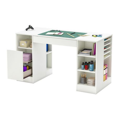 South Shore Crea Collection Craft Table Walmart Canada