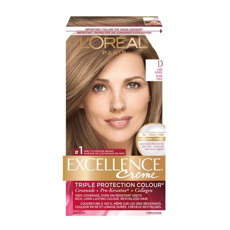 L'Oreal Paris Permanent Hair Colour Excellence Crème, D Dark Blonde, 1 EA - image 1 of 7
