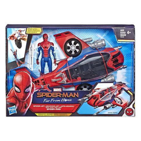 Spider-Man : Far From Home Arachno-jet avec Spider-Man – véhicule jouet de Spider-Man avec figurine articulée de Spider-Man - image 1 de 9