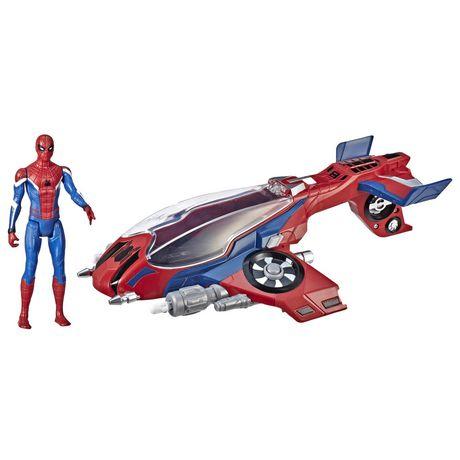 Spider-Man : Far From Home Arachno-jet avec Spider-Man – véhicule jouet de Spider-Man avec figurine articulée de Spider-Man - image 2 de 9