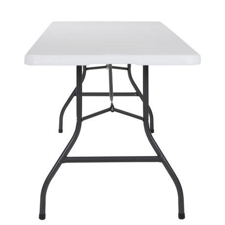 Table pliante pliante soufflet pliante cosco deluxe de 8 for Table pliante walmart