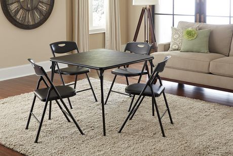 Cosco 5 Piece Folding Table And Chair Set Black - image 2 of 2