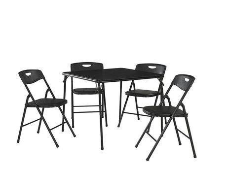 Cosco 5 Piece Folding Table And Chair Set Black - image 1 of 2