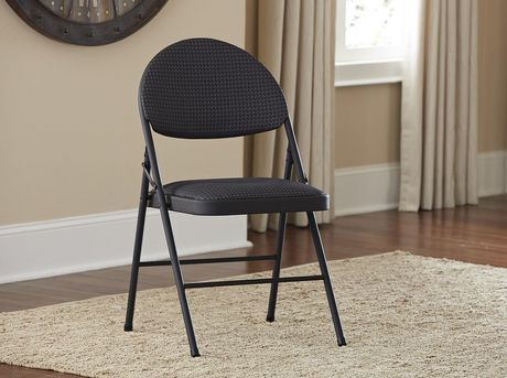 Cosco Xl Comfort Folding Chair Black Fabric 4 Pack